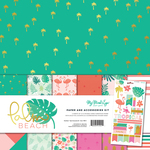 Palm Beach Paper and Accessories Kit - My Mind's Eye