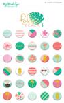 Puffy Stickers - Palm Beach - My Mind's Eye
