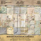 Memoranda Idea-Ology Paper Stash Double-Sided Paper Pad - Tim Holtz