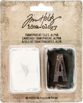 Letters, Numbers & Symbols Transparent Alpha Tiles - Tim Holtz
