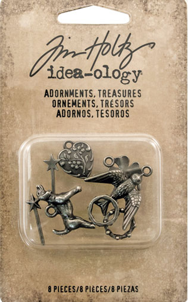 Treasures Charms & Accents Idea-Ology Metal Adornments - Tim Holtz