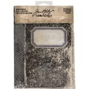 Notebook Printed Fabric Cover Idea-Ology Worn 2-Ring Binder, Tim Holtz