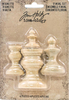 Idea-Ology Wooden Vignette Finial Set, Unfinished - Tim Holtz Tim Holtz-Idea Ology Wooden Vignette Finial Set: Unfinished. These wooden ornaments can be added to a structure for standing support as well as a decorative element. This package contains four wooden ornaments measuring between approximately 1x3/4 inches and 2x1-1/2 inches. Imported.