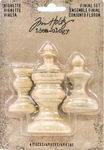 Idea-Ology Wooden Vignette Finial Set, Unfinished - Tim Holtz