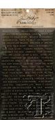 Quotations Black W/Gold & White W/Gold Idea-Ology Metallic Stickers - Tim Holtz