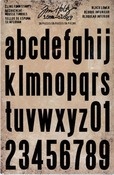 """Block Lowercase Alpha 1"""" To 1.5"""" Idea-Ology Cling Foam Stamps 36/Pkg, Tim Holtz"""
