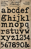 """Type Lowercase Alpha .75"""" To 1"""" Idea-Ology Cling Foam Stamps 37/Pkg, Tim Holtz"""
