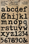 "Type Lowercase Alpha .75"" To 1"" Idea-Ology Cling Foam Stamps 37/Pkg, Tim Holtz"