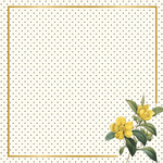 Flora Gold Foiled Paper - In Bloom - My Mind's Eye