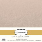 Rose Shimmer Cardstock - Carta Bella