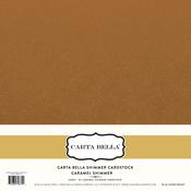 Caramel Shimmer Cardstock - Carta Bella