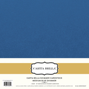 Medium Blue Shimmer Cardstock - Carta Bella