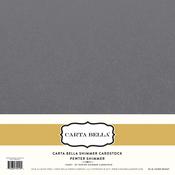 Pewter Shimmer Cardstock - Carta Bella