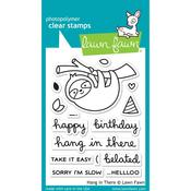 "Hang In There Lawn Fawn Clear Stamps 3""X4"""