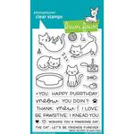 "Meow You Doin' Lawn Fawn Clear Stamps 4""X6"""