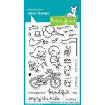 "Bicycle Built For You Lawn Fawn Clear Stamps 4""X6"""