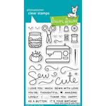 """Sewn With Love Lawn Fawn Clear Stamps 4""""X6"""""""
