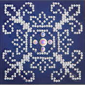 "White On Blue - Diamond Dotz Diamond Embroidery Facet Art Kit 6""X6"""