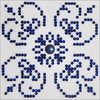 "Blue On White - Diamond Dotz Diamond Embroidery Facet Art Kit 6""X6"""