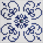 """Blue On White - Diamond Dotz Diamond Embroidery Facet Art Kit 6""""X6"""""""
