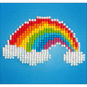 "Ever Living Rainbow - Diamond Dotz Diamond Embroidery Facet Art Kit 6""X6"""