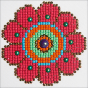 "Flower Power - Diamond Dotz Diamond Embroidery Facet Art Kit 6""X6"""