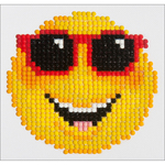 "Smiling Face - Diamond Dotz Diamond Embroidery Facet Art Kit 6""X6"""