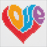 "Love - Diamond Dotz Diamond Embroidery Facet Art Kit 6""X6"""