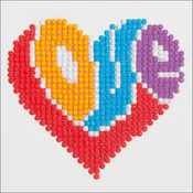 "Love - Diamond Dotz Diamond Embroidery Facet Art Kit 6""X6"""