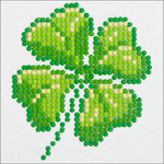 "Four Leaf Clover - Diamond Dotz Diamond Embroidery Facet Art Kit 6""X6"""