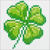 "Four Leaf Clover - Diamond Dotz Diamond Embroidery Facet Art Kit 6""X6"""