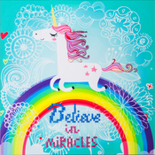 "Believe In Miracles - Diamond Dotz Diamond Embroidery Facet Art Kit 11""X11.75"""