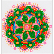 "Flower Mandala - Diamond Dotz Diamond Embroidery Facet Art Kit 11.5""X13.5"""