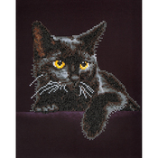 "Midnight Cat - Diamond Dotz Diamond Embroidery Facet Art Kit 13.75""X17"""