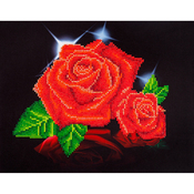 "Red Rose Sparkle - Diamond Dotz Diamond Embroidery Facet Art Kit 17""X13.75"""