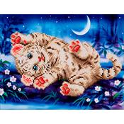 "Baby Tiger Roly Poly - Diamond Dotz Diamond Embroidery Facet Art Kit 17""X13.75"""