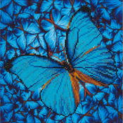 "Flutter By Blue - Diamond Dotz Diamond Embroidery Facet Art Kit 15""X15"""
