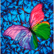 "Flutter By Pink - Diamond Dotz Diamond Embroidery Facet Art Kit 15""X15"""