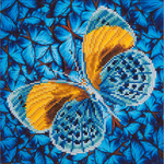 "Flutter By Gold - Diamond Dotz Diamond Embroidery Facet Art Kit 15""X15"""