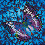"Flutter By Mauve - Diamond Dotz Diamond Embroidery Facet Art Kit 15""X15"""