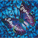 "Flutter By Mauve - Diamond Dotz Diamond Embroidery Facet Art Kit 15""X15"""