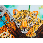 "Leopard Look - Diamond Dotz Diamond Embroidery Facet Art Kit 21.75""X17.25"""