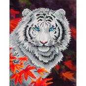 """White Tiger In Autumn - Diamond Dotz Diamond Embroidery Facet Art Kit 17.25""""X21.75"""""""