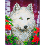 "White Wolf - Diamond Dotz Diamond Embroidery Facet Art Kit 23""X19"""