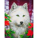 """White Wolf - Diamond Dotz Diamond Embroidery Facet Art Kit 23""""X19"""""""