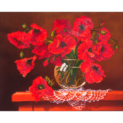 "Red Poppies - Diamond Dotz Diamond Embroidery Facet Art Kit 23""X19"""