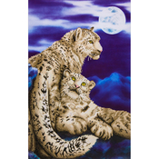 "Snow Leopards - Diamond Dotz Diamond Embroidery Facet Art Kit 34.25""X22.75"""
