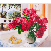 "Roses By The Window - Diamond Dotz Diamond Embroidery Facet Art Kit 25.25""X31.5"""
