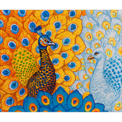 "Romantic Peacocks - Diamond Dotz Diamond Embroidery Facet Art Kit 31.5""X25"""