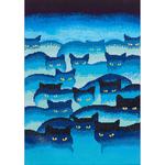 """Smokey Mountain Cats - Diamond Dotz Diamond Embroidery Facet Art Kit 31.5""""X25"""""""